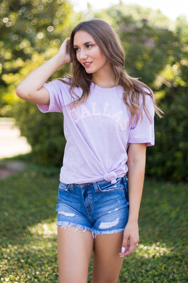 Dallas Tee- Lilac & Pink