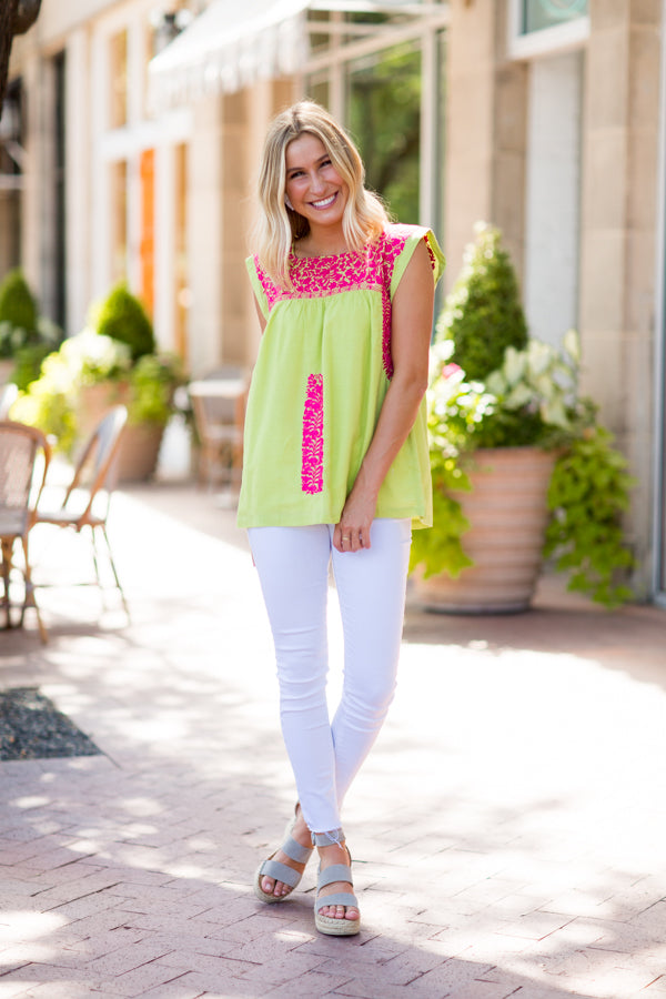The Brighton Top - Lime