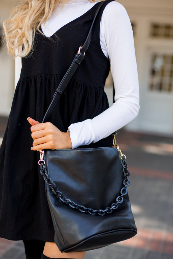 Acrylic Chain Bag- Black