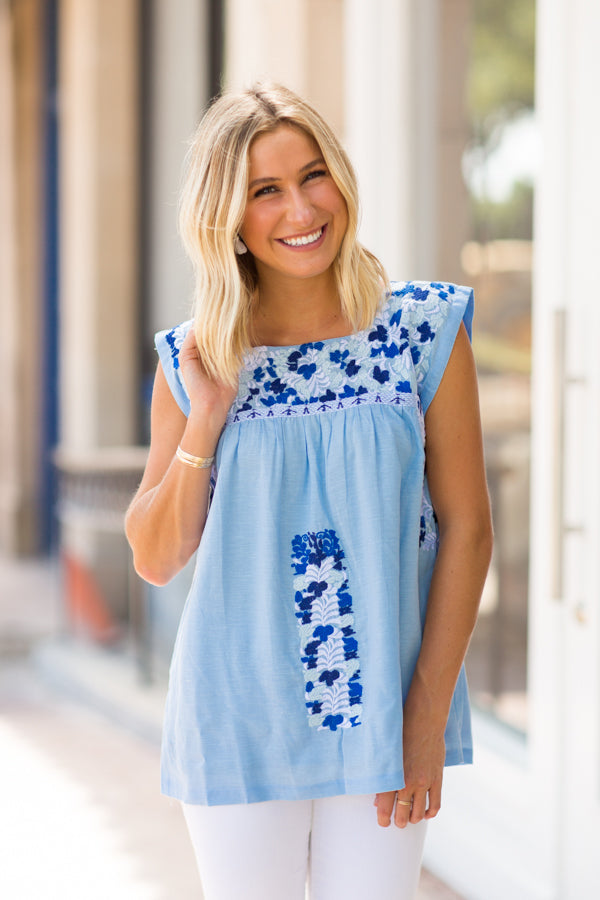 The Libby Top - Blue