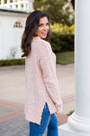 Popcorn Sweater- Blush