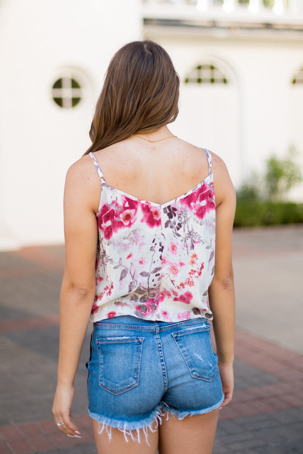 Floral Blossom Tie Tank