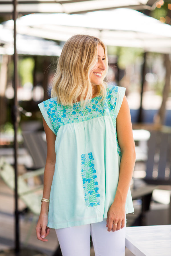 The Paige Top - Mint