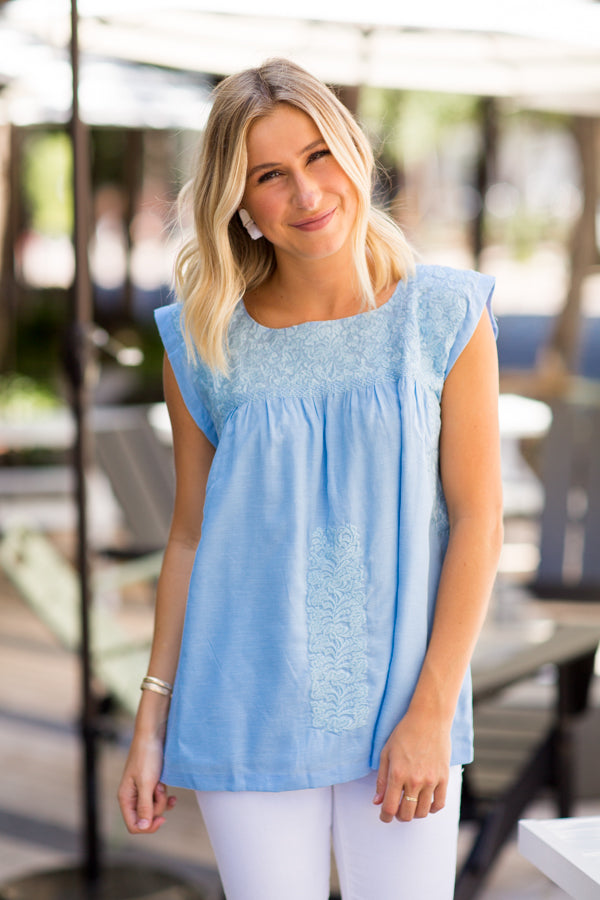 The Eliza Top - Blue
