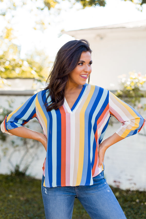 Catch The Rainbow Striped Top