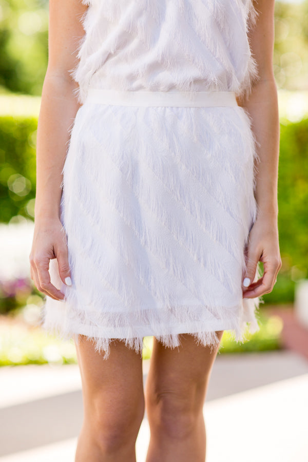 Pop The Bubbly Skirt - White