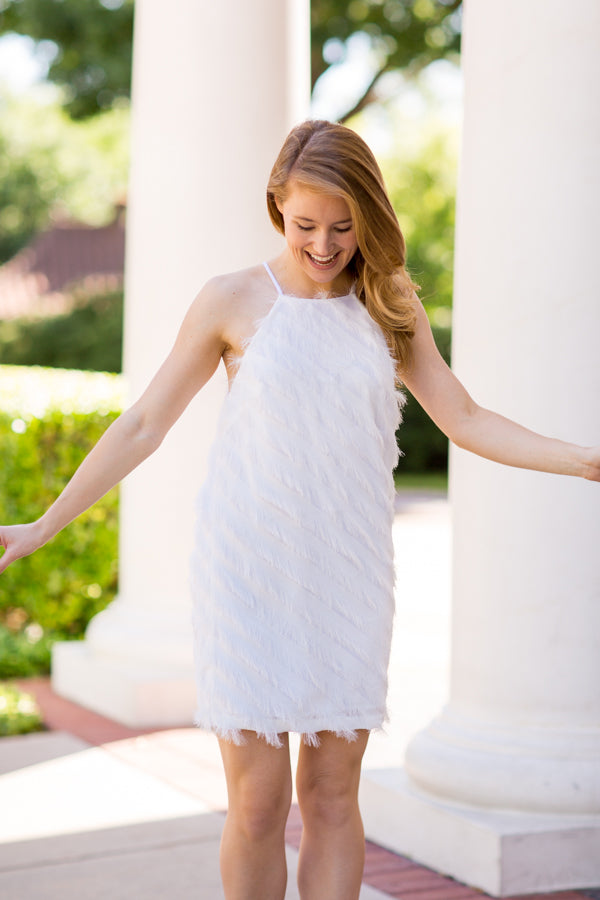 Pop The Bubbly Dress - White