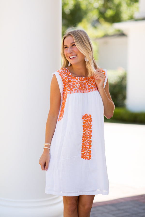 The Aubrey Dress - Orange
