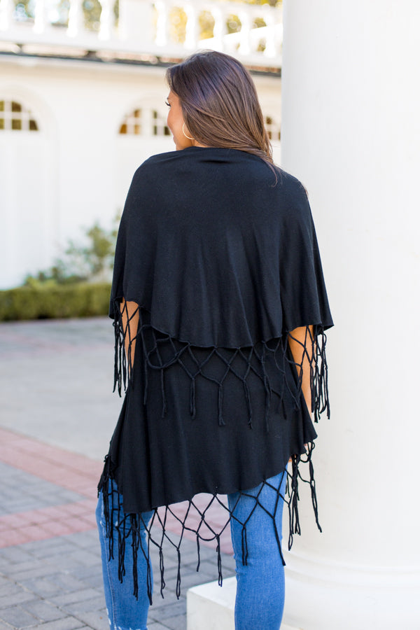 Witch's Broom Cardigan- Black