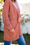 Carrot Cake Cardigan- Rust