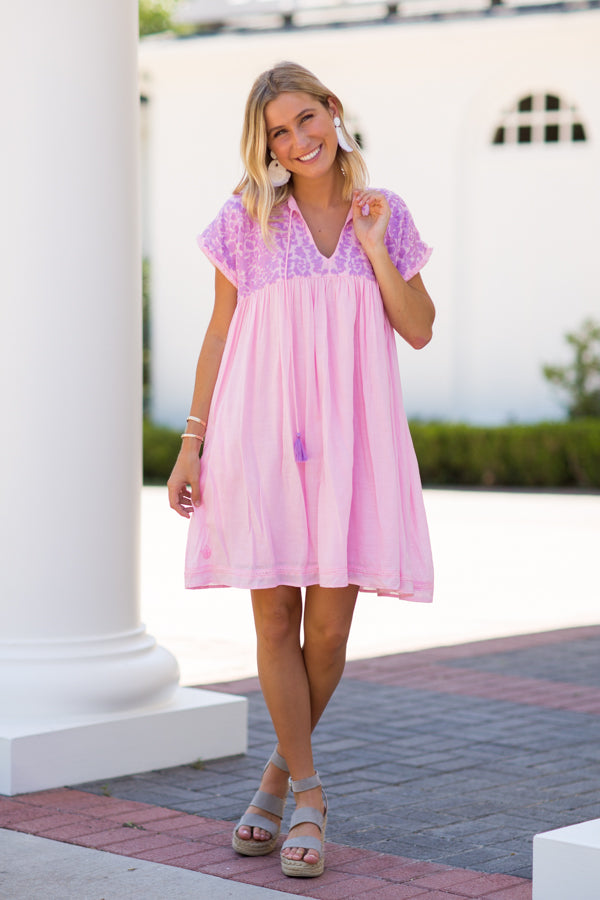 PRE-ORDER The Macey Dress - Light Pink