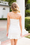 Flatter Yourself Dress- White