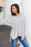 Never Too Knit Sweater- Oreo