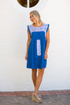 The Elyse Dress - Cobalt