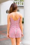 All American Romper- Red