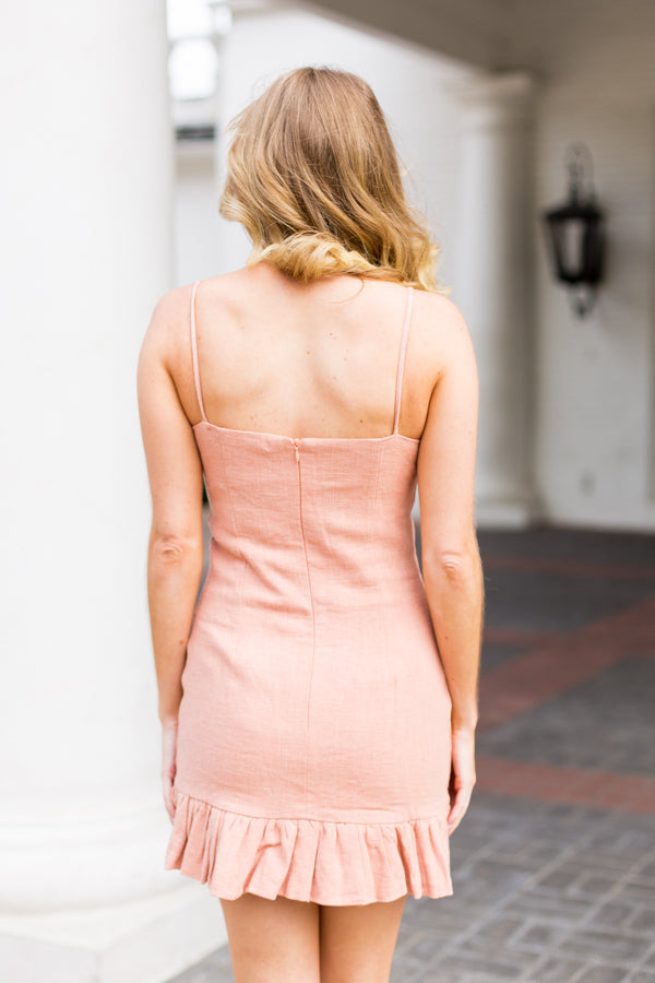 Flatter Yourself Dress- Rose
