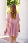 Babydoll Babe Dress- Blush