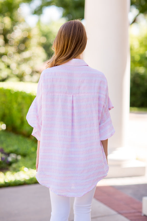Castaway Top - Light Pink