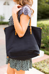 Cabana Canvas Tote- Black