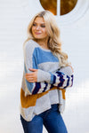 Colorblock Spirit Sweater- Grey