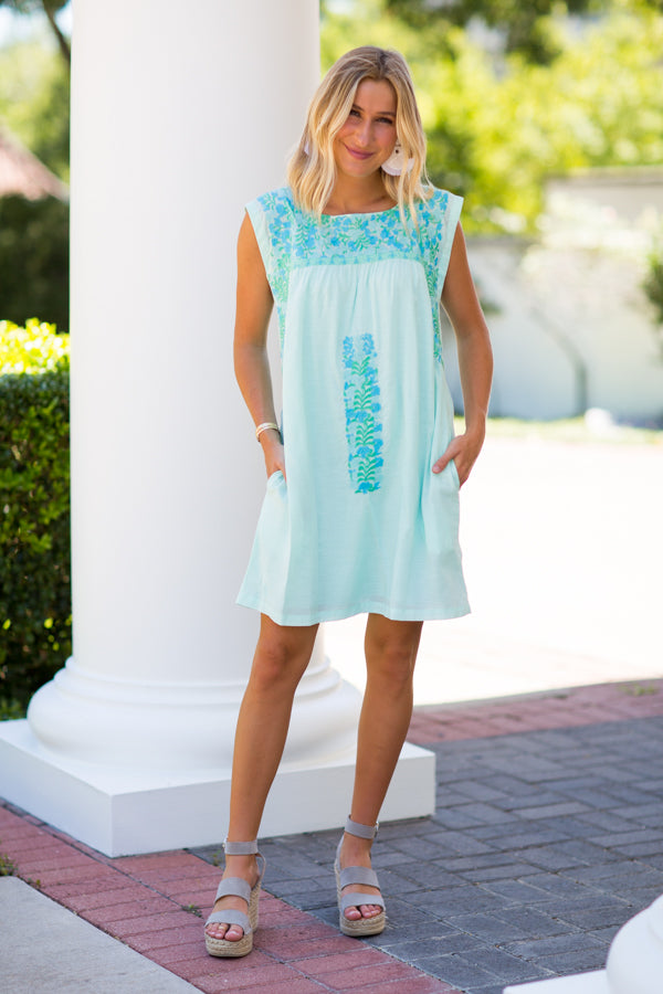 The Paige Dress - Mint