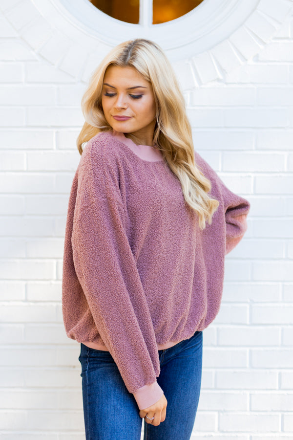 Making A Fuzz Pullover- Mauve