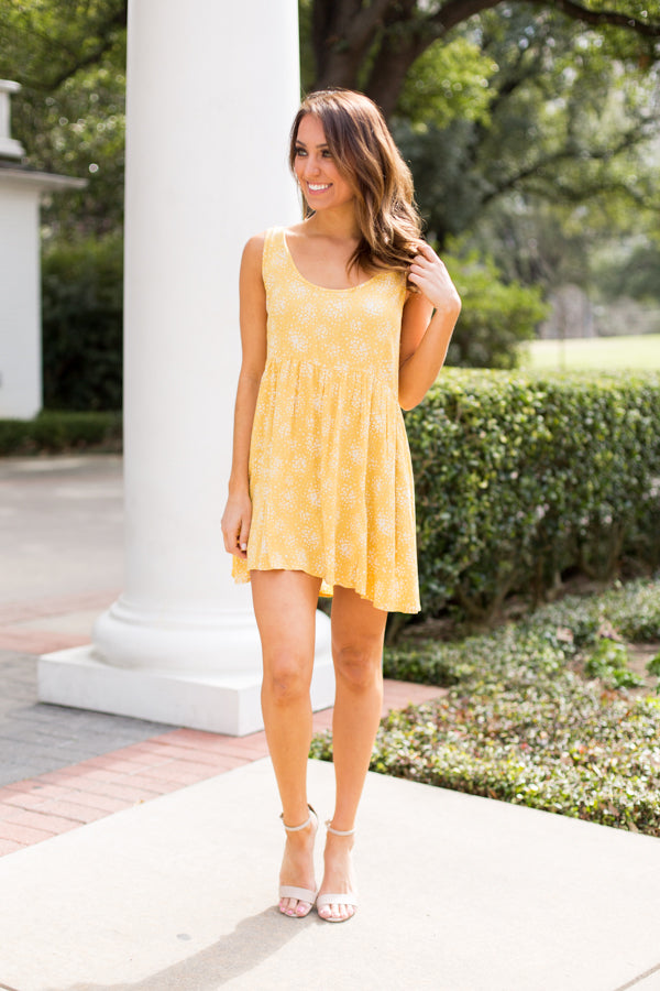 Fun In The Sun Dress- Primrose Yellow