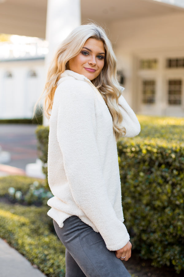 Stay Warm Pullover- Ivory
