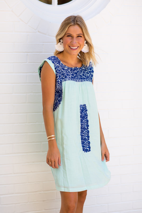 The Hazel Dress - Mint