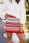 Lollipop Bodycon Skirt- Multicolor