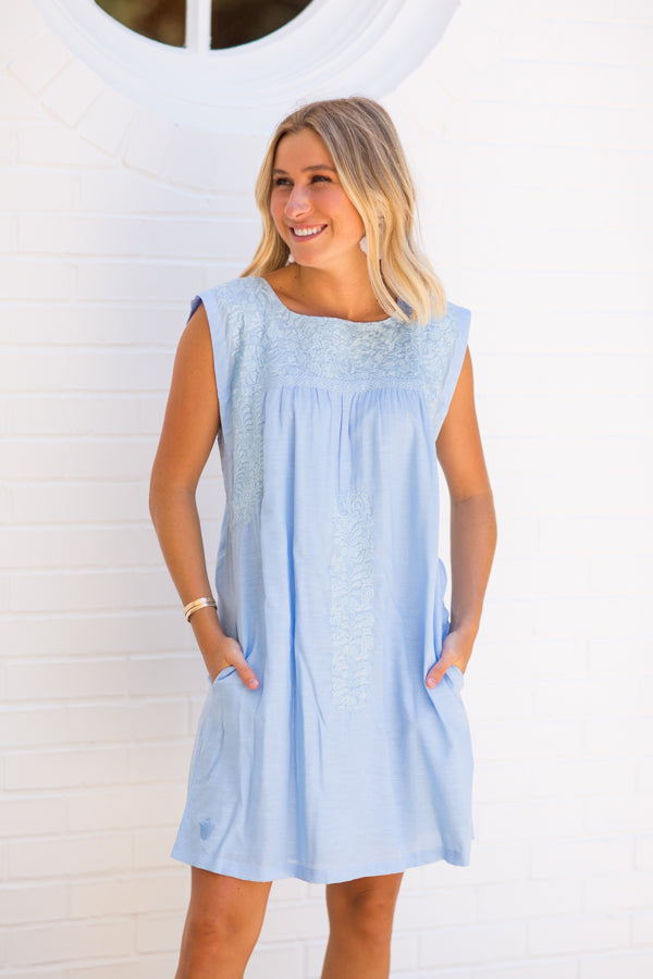 The Eliza Dress - Blue