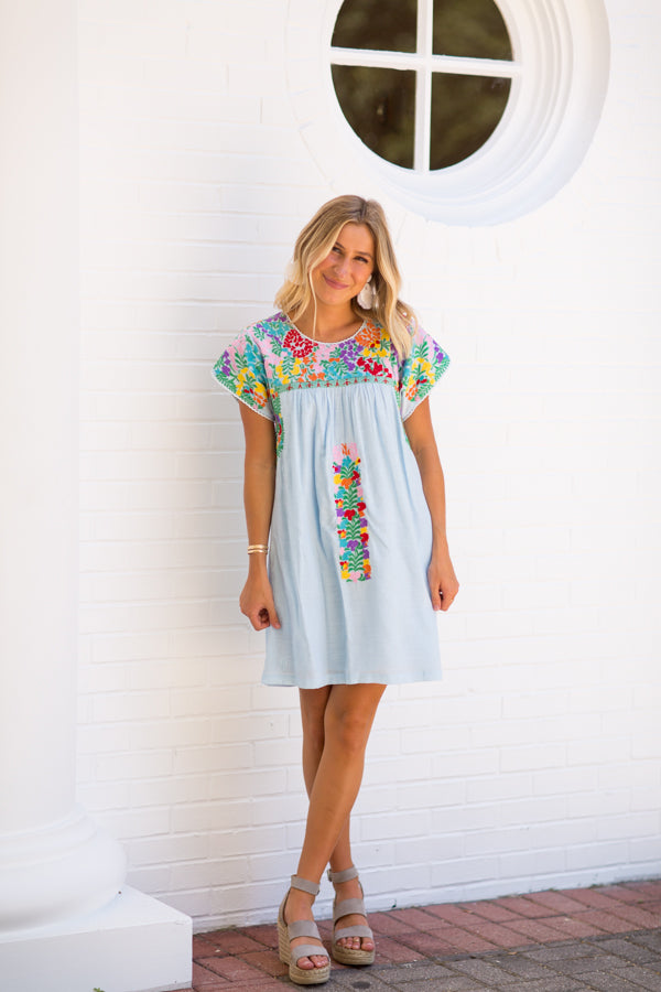 The Margaret Dress - Light Blue