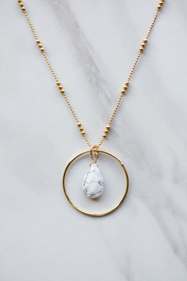 Marble Chic! Drop Pendant Necklace