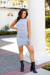 Tight & Twisted Dress- Grey