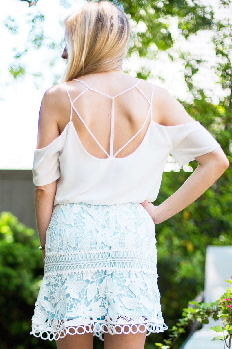 Double Take Open Back Top