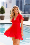 Party In The USA Dress- Red