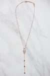 Iridescent Rose Gold Necklace