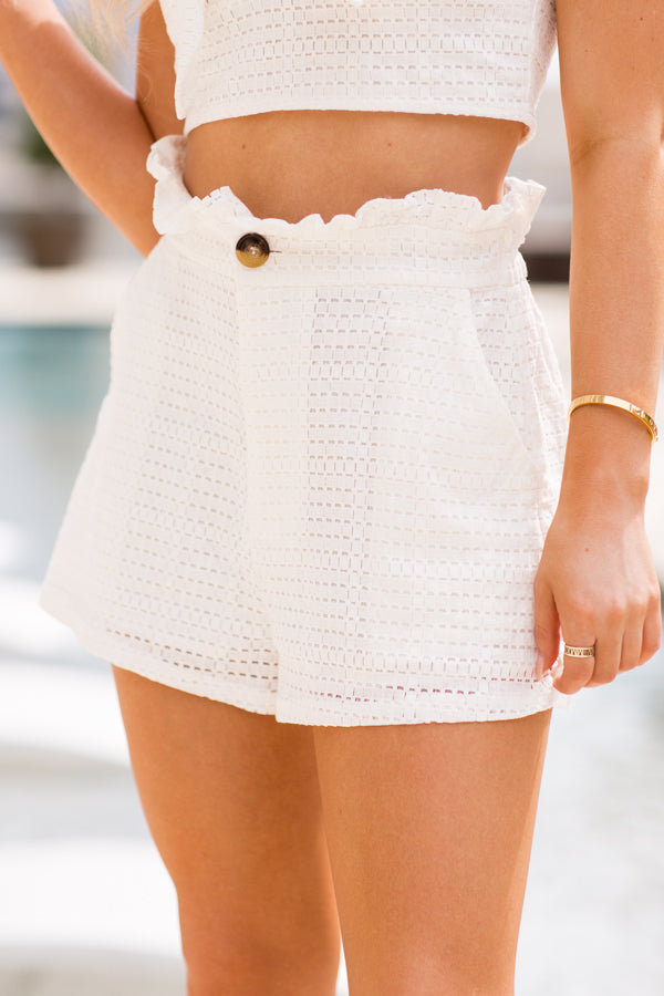 Sweet Like Summertime Shorts- White