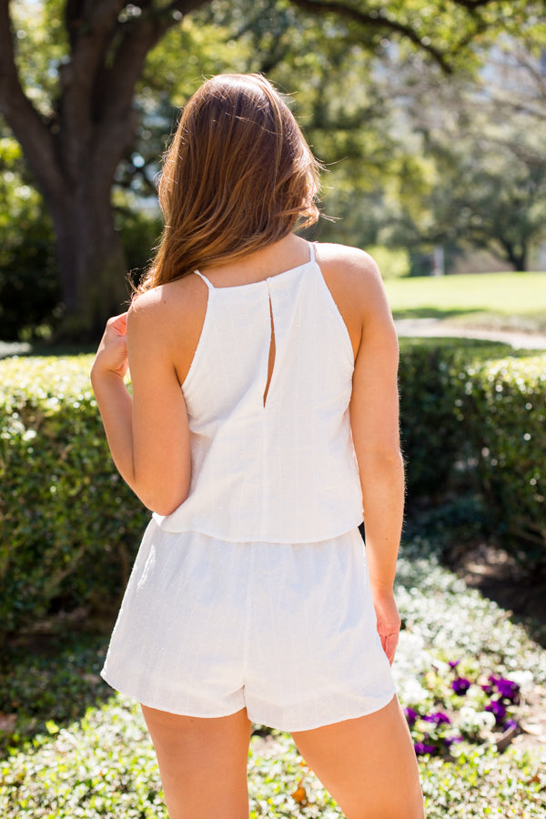 Spring Cleaning Romper- White