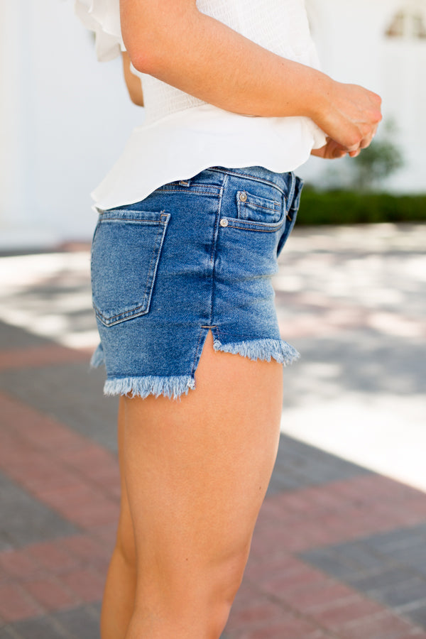 Everyday Denim Shorts- Medium Wash