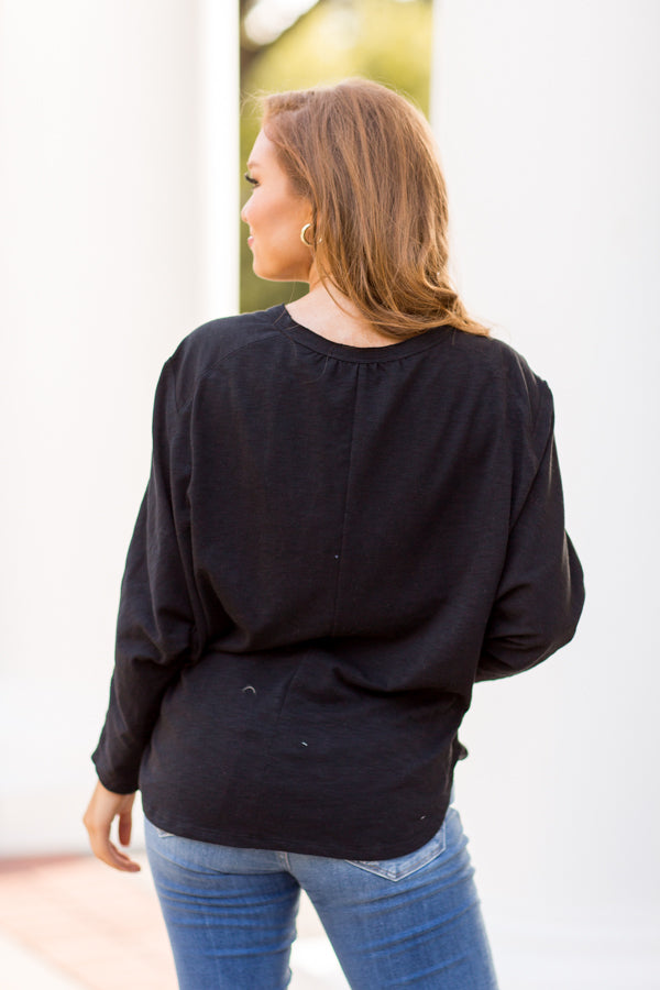 Relaxed To The Max Top - Black