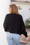 Let's Be Friends Sweater - Black