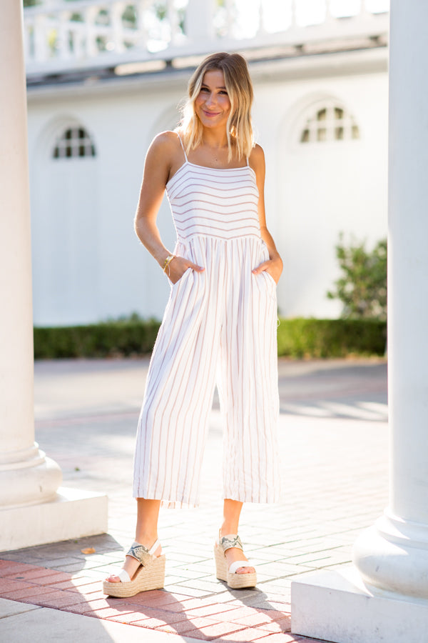 Morning Glow Jumpsuit- White