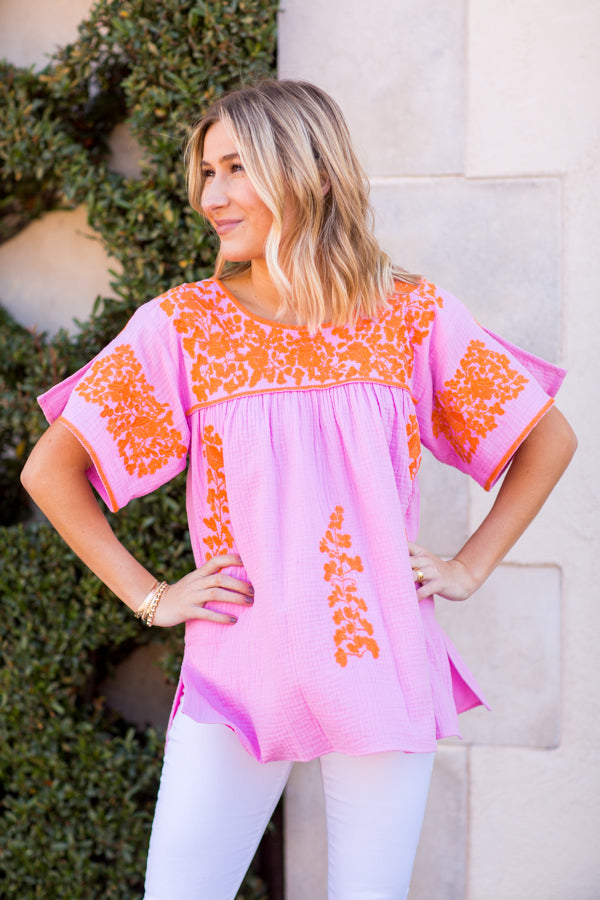 The Cora Top - Pink