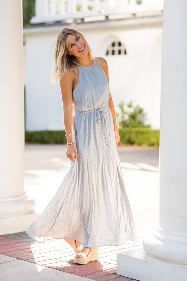 Just A Dream Maxi Dress- Cloud
