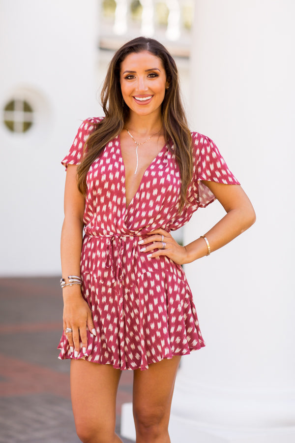 All About Autumn Romper - Rosewood