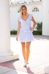 Colonial Days Dress- Light Blue