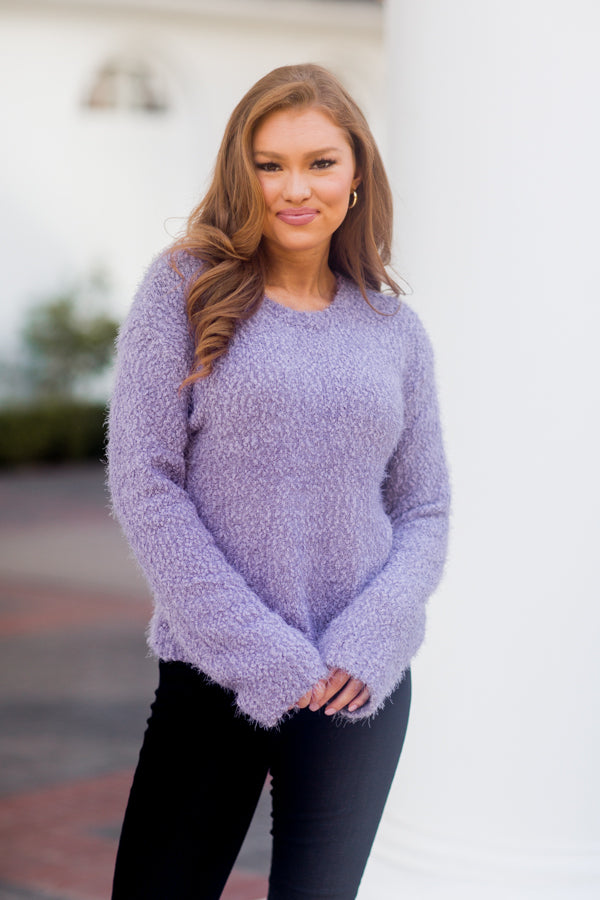 BB Dakota Get A Crew Sweater - Lavender