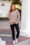 That Fall Feeling Sweater - Taupe