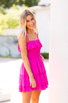 Sun Showers Dress- Fuchsia